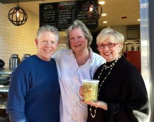 Jim White, Joanne Bondy and Vicki Briley-White at the new Stocks & Bondy