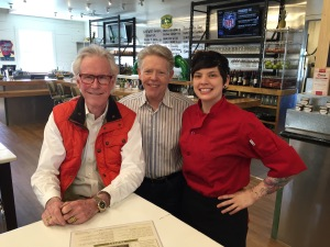 Jim White joins Shannon Wynne (L) and Chef Suki Otsuki at Mudhen Meat and Greens.