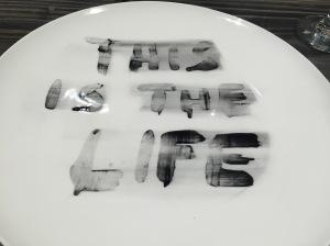 "Cafe Momentum ""gratitude plate""."