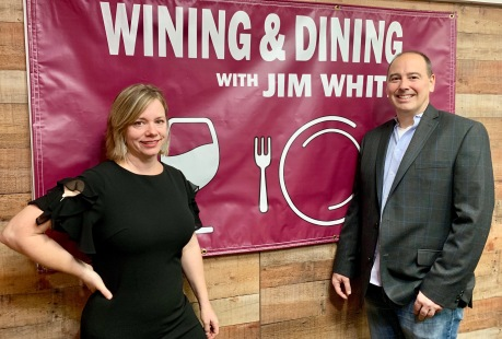 "Allison Yoder and Stephen Rogers ""Wining and Dining with Jim White"""